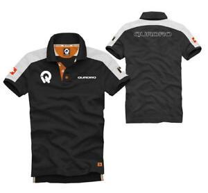 Polo-Shirt QUADRO Schwarz Baumwolle Mit Logos