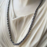 3.5mm Men Wheat Braid Link Rolo Chain Necklace 20GR 20 Inch 925 Silver Sterling