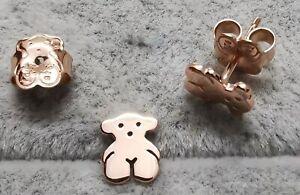 TOUS 415903572 Rose Silver Vermeil Sweet Dolls Earrings