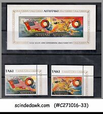 AITUTAKI 1975 USA RUSSIA JOINT SPACE FLIGHT SET OF - 2 STAMPS AND 1 MIN/SHT MNH