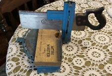 """VINTAGE ◇ MITRE MASTER TABLE SAW STAND 13 1/2'' X 9"""" & CORSAIR 12"""" BLADE SAW"""