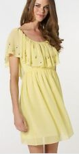 BNWT Lipsy Ladies Womens Chiffon Party/ Evening Yellow Dress Sizes