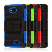 For LG Tribute / Transpyre Case MPERO IMPACT XT Hybrid Kickstand Cover Clip