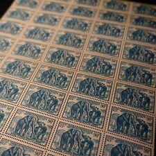 FEUILLE SHEET CAMEROUN COLONIE N°177 x50 ÉLÉPHANTS 1939 NEUF SANS GOMME