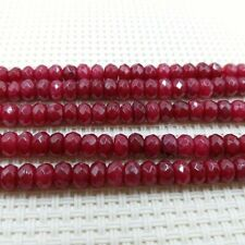 """4x6mm Natural Faceted Brazil Dark Red Ruby GEMSTONE Loose Beads 15"""""""