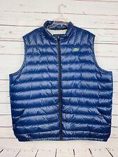 Lacoste Men's Lightweight Puffer Down Vest Big & Tall 2XLT Blue