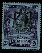 More details for gambia gv sg136, 2s purple/blue, lh mint. cat £17.