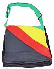 Rasta Shoulder Purse Sling bag Tote bag Crossbody Reggae Hippie BOHO Square ZIP