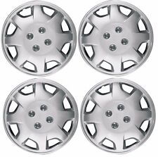New 14 Aftermarket Universal Wheelcover Hubcaps Set Of 4 With Metal Clips Fits Mustang