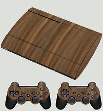Efecto de madera de nogal PLAYSTATION PS3 SUPER Delgada Piel Pegatina Kit Nuevo Con Textura No