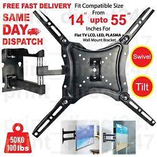 TV Wall Bracket Tilt Swivel Mount for 14 22 28 20 32 37 40 42 43 50 55 Inch LCD