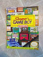 SUPER GAME BOY Strategy Guide Book Adapter Converter SNES Nintendo Power Manual