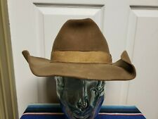 Vintage Rockabilly Western Hat No Size Fits Like 7 1/8 Brown Grunge Sweat Dirty
