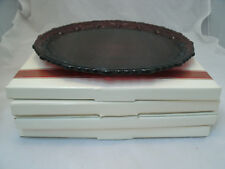 """Avon CAPE COD 1876 Ruby Red Collection Set of 4-10 3/4"""" Dinner Plates Glass NEW"""