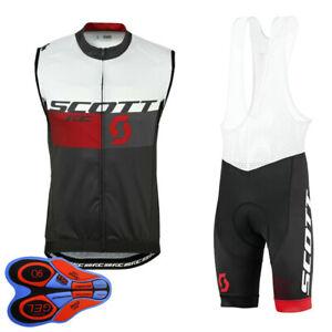 New men cycling Sleeveless jersey bib shorts set summer breathable bike uniforms