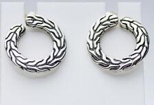 $295 John Hardy Sterling Silver Classic Chain Stud Earrings