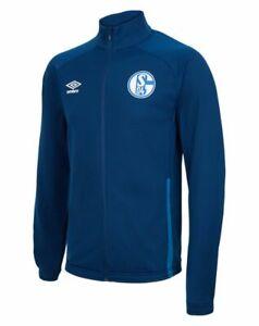 Umbro Football Soccer S04 FC Schalke 04 Mens Full Zip Jacket Tracksuit Top Navy
