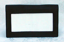 LEE Black Smooth Leather Wallet ~ Snap Closing & Interior for Needlepoint Canvas