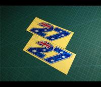 2 Pics 27 Aussie star Casey Stoner motoGP helmet Reflective Decal Sticker #002