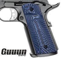 Guuun G10 Full Size 1911 Magwell Grips Ambi Safety Cut Starburst textur