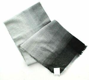 "Calvin Klein Men's Scarf, CK Ombre Lightweight, Grey Black Ombre, 12x72"" $60"