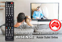 HISENSE Universal Smart TV Remote Control No Programming Needed - Aussie NSW
