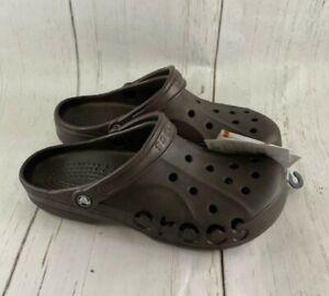 Crocs Baya Unisex Brown Slip On Clogs Beach Sandals 10126-206 Men Size 10