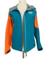 Dare 2B Veracity Waterproof Rain Jacket Green Blue Neon Orange Pockets Size 10