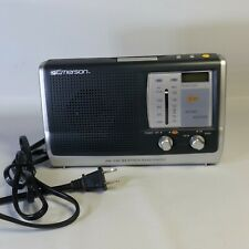 Emerson RP6251 AM/FM Weather Band Radio Digital Clock Portable Tested Works EUC