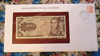Banknotes of All Nations Venezuela 1981 P 60a 10 Bolivares UNC BIRTHDAY 1991