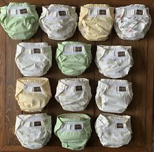 Lot Of 13 Kushies AIO Cloth Diapers, 10-22 lbs