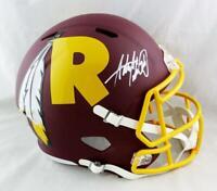Adrian Peterson Autographed Redskins F/S AMP Speed Helmet- Beckett W Auth *White