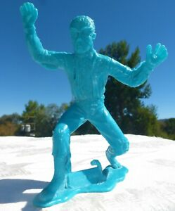 """1963 MARX - WOLFMAN 4 1/2"""" Plastic Monster - UNIVERSAL PICTURES Great Detail"""