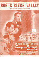 """CANYON PASSAGE Sheet Music """"Rogue River Valley"""" Susan Hayward Brian Donlevy"""