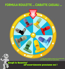Ciabatte in Spugna CASUALI Formula Roulette, Ciabattine, Pantofole Uomo e Donna