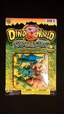 NEW Dino World Miniatures Plastic Dinosaurs 9 pieces Realistic Hand Painted