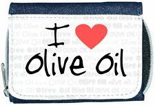 I Love Heart Olive Oil Denim Wallet