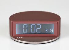 Lexon Design LCD Wecker Uhr FINE CLOCK Blue LR138Y Burgundy Weinrot