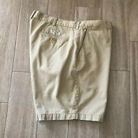 Polo by Ralph Lauren  Mens Size 42 Prospect Short Khaki 100% Cotton Flat Front