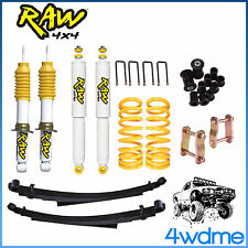 "Holden Colorado RG RAW F & R Shock + KING Spring + Leaf Spring 2"" Lift Kit 2013-"