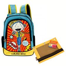 "Hablando Sola Girl 3D 16"" Cargo Backpack School Travel Book Bag + Pencil Pouch"