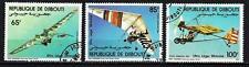 Avions Djibouti (58) série complète de 3 timbres oblitérés