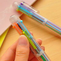 Rainbow Ballpoint School Supplies 6 in 1 Color Click Pen Writing Instruments US