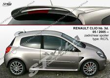SPOILER REAR ROOF TAILGATE RENAULT CLIO MK3 III 3 MKIII WING ACCESSORIES