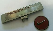 Brand New Nike Gun Metal and Victory Red Golf Ball marker with hat clip!!