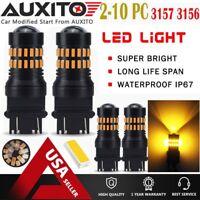 LOT 2-10 AUXITO 3157 3057 4057 LED Amber Yellow Turn Signal Light bulb 48H EOA