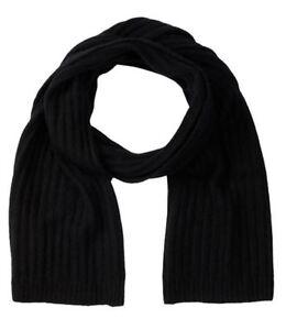 "NWT Portolano Mens Luxurious Soft Cashmere Silk Mix Black Long 72"" Luxe Scarf"