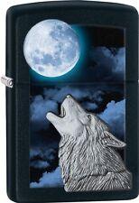 Zippo 2015 Catalog Howling White Wolf Black Matte Windprof Lighter 28879 *NEW*