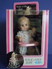 "RARE VINTAGE 1982 PLAYMATES DOLL ON A MOVING WALKER "" WALK-A-BYE BABY ""REAL BABY"