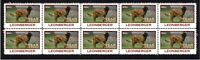 LEONBERGER STRIP OF 10 MINT YEAR OF THE DOG VIGNETTE STAMPS 2